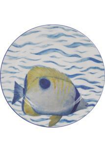 Prato Para Sobremesa 19 Cm Porcelana Schmidt - Dec. Oceanos