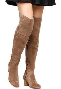 Bota Couro Over The Knee Shoestock Camurça Feminino - Feminino