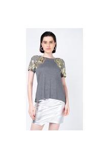 T-Shirt Joulik Bordada Flow - Mescla