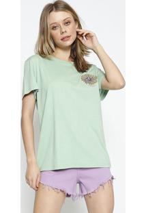 Camiseta Com Bordado - Verde & Amarela - Colccicolcci