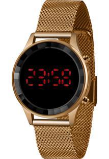 Relógio Lince Feminino Fashion Digital Dourado Ldr4647L-Pxrx