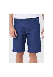 Bermuda Jeans Hurley Slim Pespontos Azul