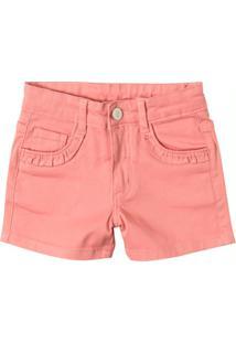 Shorts Rosa Comfort Sarja Repele Menina