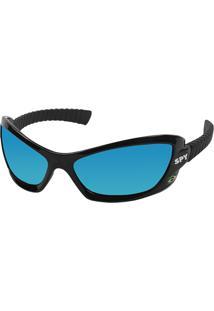 Óculos De Sol Espelhado Spy Bogu 40 Preto Brilhante Lente Azul 100314d2fd