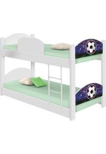 Beliche Infantil Futebol Estádio Com 2 Colchões Casah