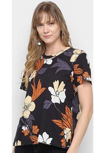 Camiseta Colcci Estampada Feminina - Feminino-Estampado