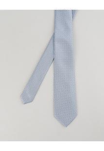 Gravata Em Jacquard Estampada Geométrica Azul Claro - Único