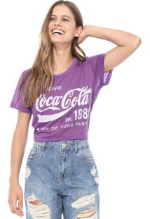 Camiseta Coca-Cola Jeans Lettering Roxo
