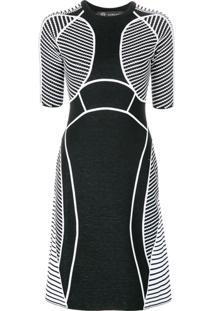 Versace Vestido Com Recortes - Preto