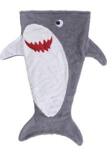 Manta Infantil Tubarão- Branca & Cinza- 50X140Cmbuettner