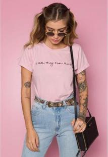 T-Shirt Muse Sislla Feminina - Feminino-Rosa
