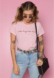 T-Shirt Sislla Muse Feminina - Feminino-Rosa