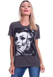 Camiseta Jazz Brasil Mask Preto Estonado