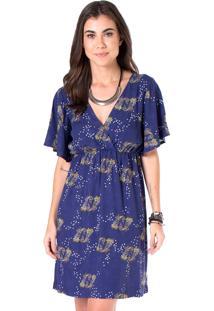 Vestido Estampado Mercatto 1766122 Azul