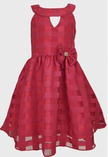 Vestido Katitus Juvenil Quadriculado Vermelho