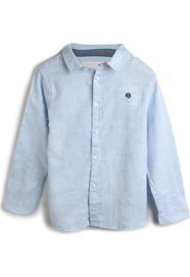 Camisa Milon Menino Lisa Azul