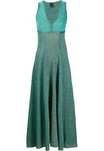 Pinko Vestido Midi De Tricô - Verde
