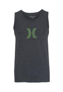 Camiseta Regata Hurley Silk Icon Push Thru - Masculina - Cinza Escuro 86541b1f42c