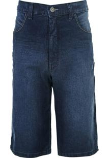 Bermuda Jeans Fatal Reta Estonada Azul - Kanui
