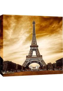 Quadro Impressão Digital Paris Torre Eiffel Iii Marrom 30X30Cm Uniart