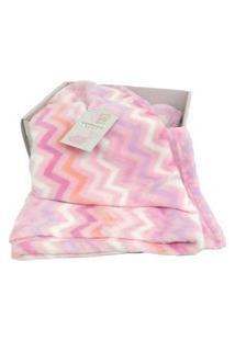 Cobertor Bebê Estampado Menina Macio Antialérgico Camesa Rosa
