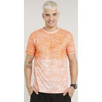 Camiseta Masculina Esportiva Ace Degradê Manga Curta Gola Careca Laranja 2745a633b61a0