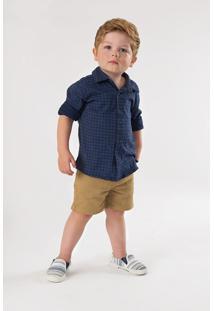 Camisa Up Baby Beb㪠Azul - Azul - Menino - Dafiti