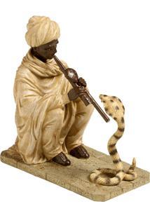 Escultura Decorativa De Resina Indiano Rajan