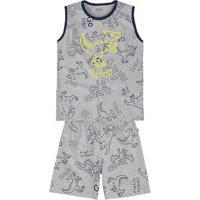 91b82d98f0 Pijama Infantil Menino Em Malha De Algodão E Estampa Que Brilha No Escuro  Puc