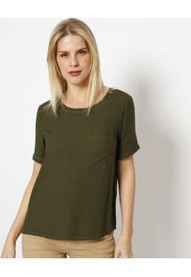 Camiseta Com Pespontos - Verde Escuro - Tritontriton