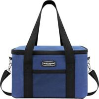 78b106c1a Bolsa Térmica Com Alça- Azul & Preta- 28X17X5Cm-Jacki Design