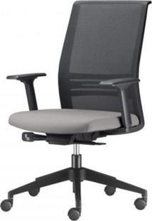 Cadeira Agile Presidente Assento Crepe Cinza Claro Base Nylon Piramidal E Rodizio Em Nylon - 55684 Sun House