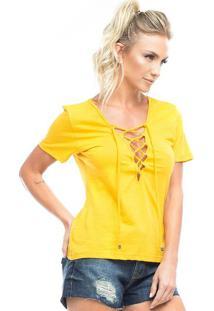 Camiseta Com Cordã£O- Amarela- Vestemvestem