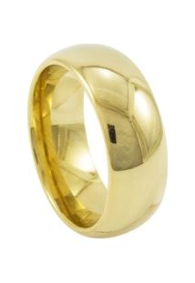 Aliança De Tungstênio New Tungsten 8Mm Tradicional Gold - Unissex