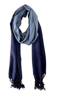 Lenço Echarpe Degradê Azul