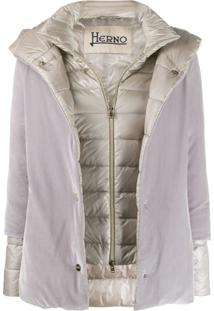 Herno Contrast Padded Jacket - Cinza