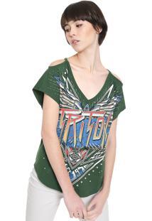 Camiseta Triton Recorte Verde