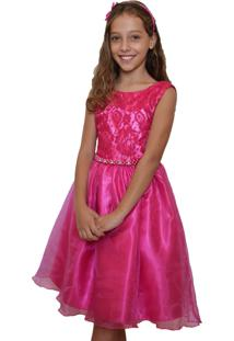 Vestido Enjoy Kids Festa Pink