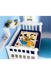 Cobertor Disney Mickey Divertido Azul Marinho Jolitex