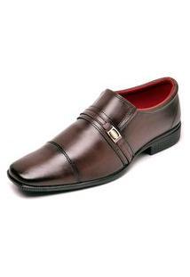 Sapato Social Sem Cadarço Top Flex Marrom