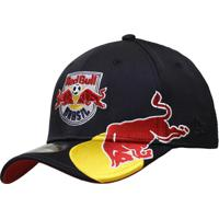 Boné New Era Aba Curva Fechado Red Bull Summer - Unissex-Azul Escuro c598e7e6992