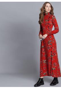 Vestido Mídi Gola Alta Estampa Paradise - Lez A Lez