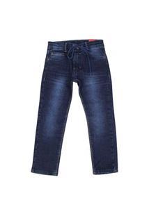 Calça Jeans Com Cordâo Akioyshi