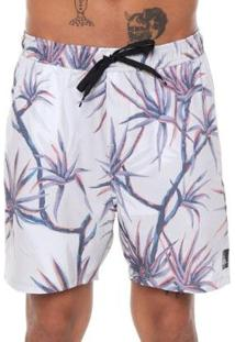 Bermuda Quiksilver Boardshort Salty Palms Volley 18 - Masculino-Off White