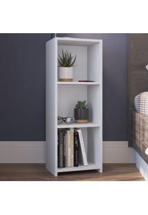 Estante Para Livros 3 Prateleiras Mo030 Branco - Art In Móveis