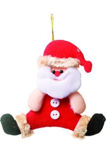 Enfeite De Papai Noel Para Pendurar- Vermelho & Off Whitcromus
