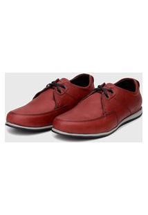 Sapato Em Couro Hayabusa Enter 20 Vermelho Solado Cinza