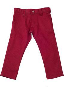 Calça Jeans Color Lazy Vermelha