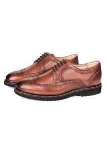 Sapato Social Savelli Masculina Couro Moderno Leve Conforto Marrom 37