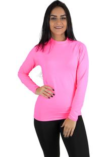 a42699ab20a9c Camisa Térmica Rioutlet Feminina Rosa Neon